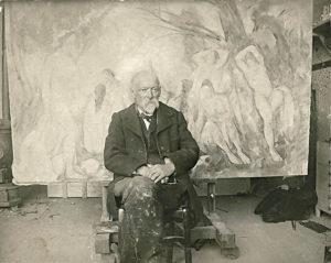 Émile Bernard, Paul Cézanne dans son atelier des Lauves en 1906