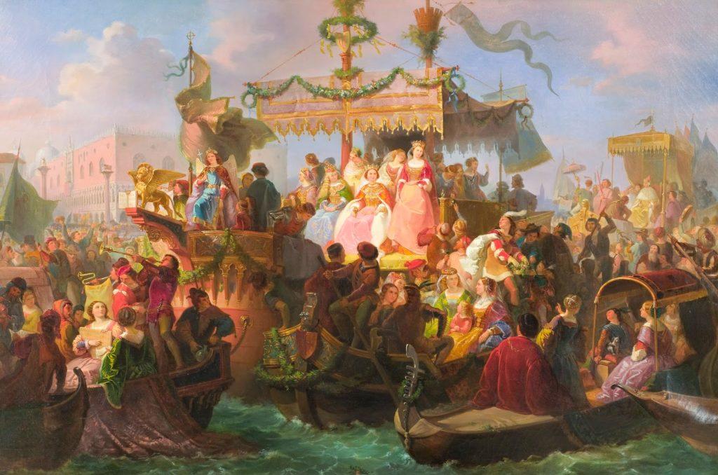 Giuseppe Lorenzo Gatteri, La fête des Marie, XIXe siècle Trieste, Museo Revoltella