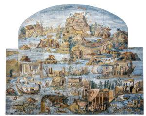 Crue du Nil, mosaïque romaine, IIe siècle av. J.-C. Museo Prenestino Palestrina