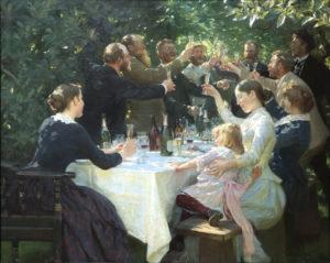 Peder Severin Kroyer, Hip Hip Hurrah, 1888 Musée des Beaux-Arts de Göteborg