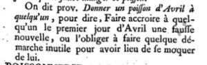 """Dictionnaire de l'Académie française, 1740 - Article """"poisson"""""""