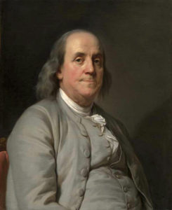 Joseph-Siffred Duplessis, Portrait de Benjamin Franklin, 1778 National Portrait Gallery, Washington