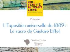 L'Exposition Universelle de Paris 1889 – UTL d'Aubagne, avril 2020